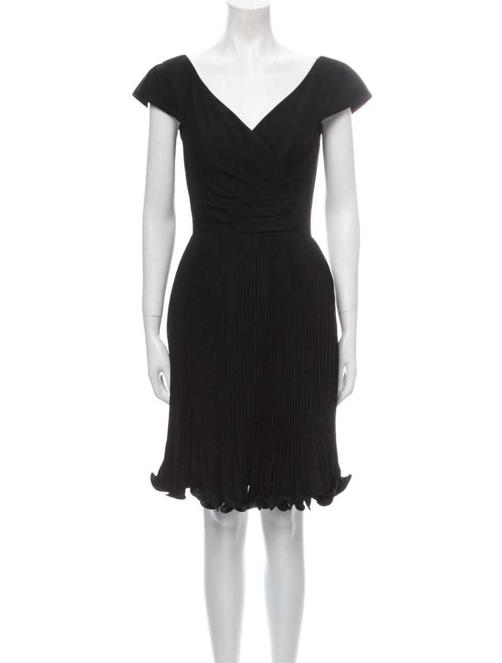 Arnold Scaasi Vintage Knee-Length Dress Black - image 1