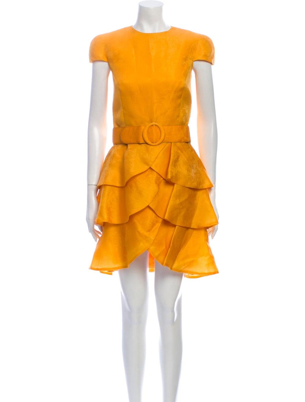 Arnold Scaasi Vintage Mini Dress Yellow - image 1