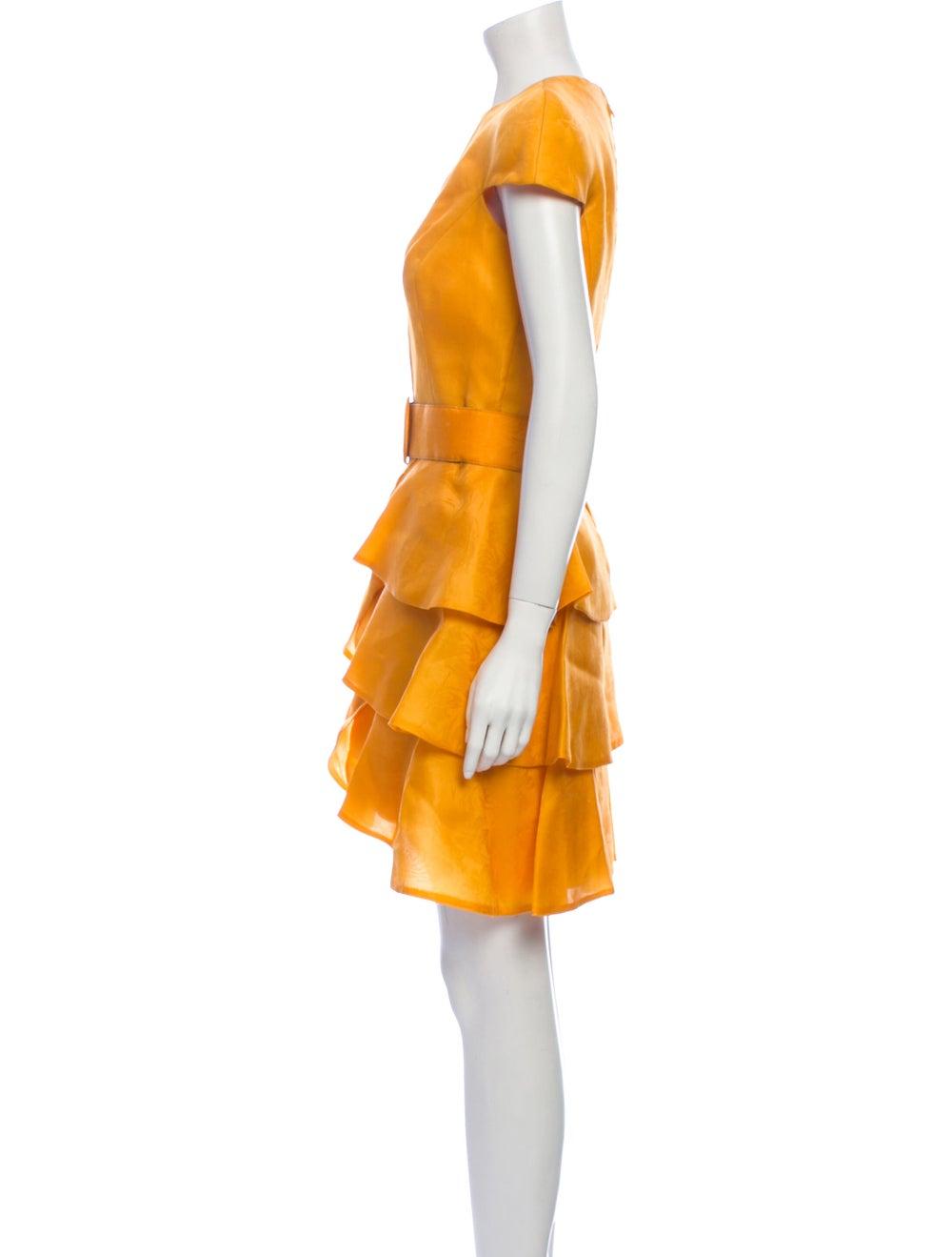 Arnold Scaasi Vintage Mini Dress Yellow - image 2