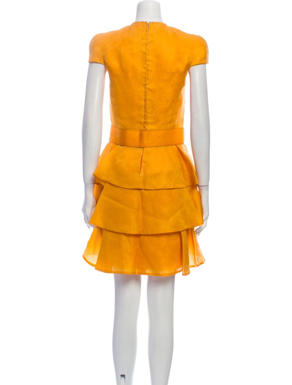 Arnold Scaasi Vintage Mini Dress Yellow - image 3