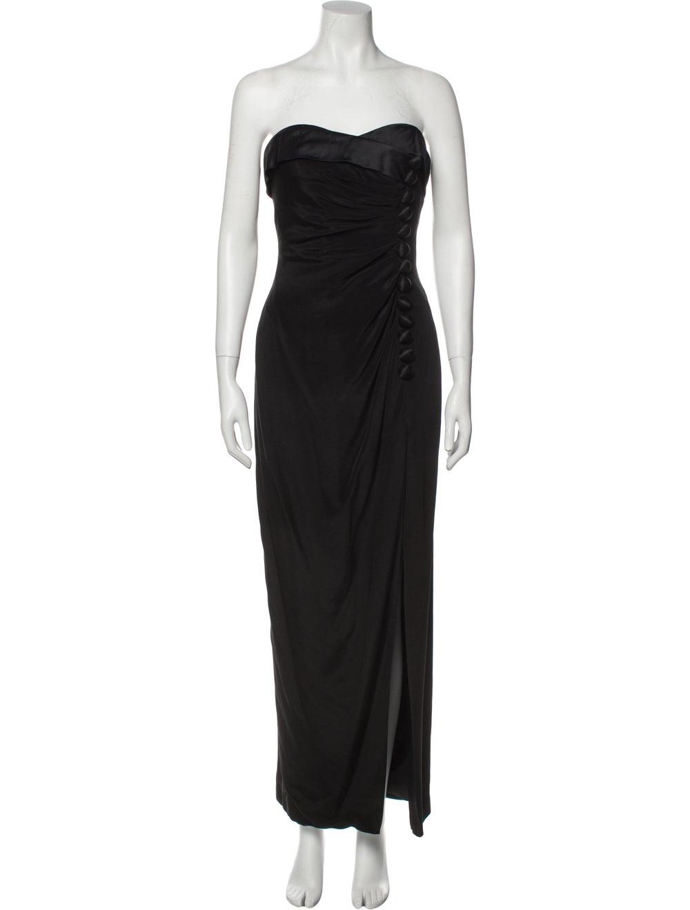 Arnold Scaasi Vintage Long Dress Black - image 1
