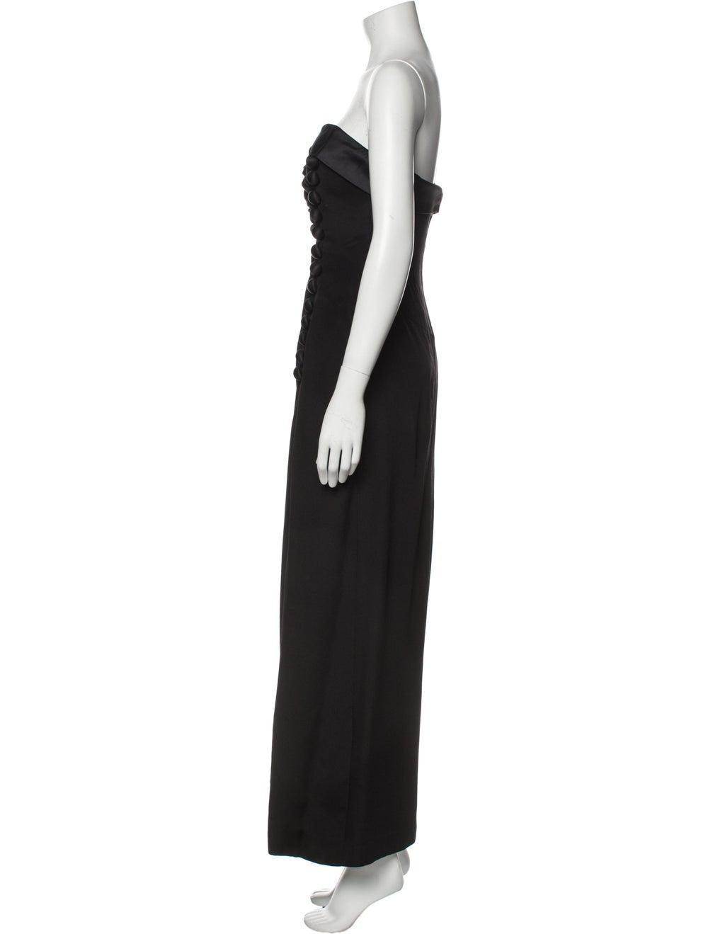 Arnold Scaasi Vintage Long Dress Black - image 2