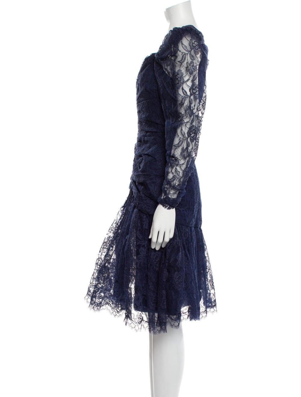Arnold Scaasi Vintage Knee-Length Dress Blue - image 2