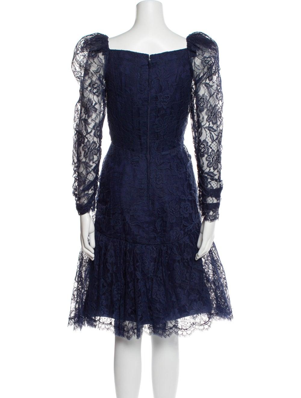 Arnold Scaasi Vintage Knee-Length Dress Blue - image 3