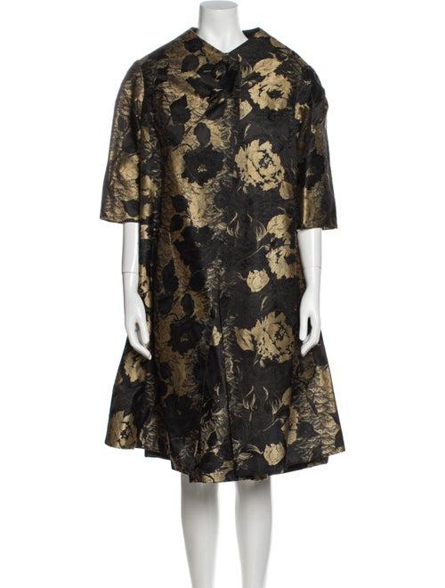 Arnold Scaasi Vintage Knee-Length Dress Black