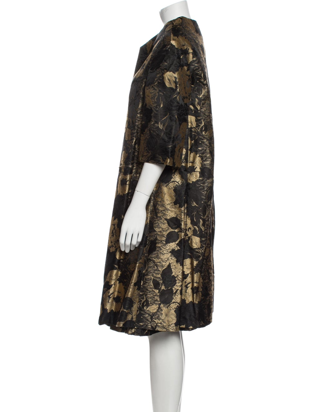 Arnold Scaasi Vintage Knee-Length Dress Black - image 2