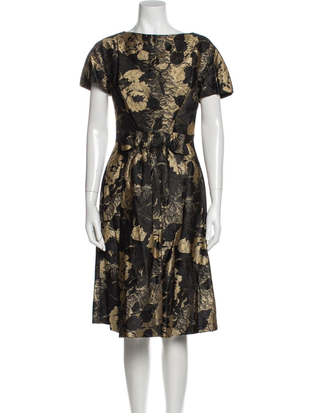 Arnold Scaasi Vintage Knee-Length Dress Black - image 4