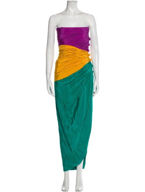 Arnold Scaasi Vintage Long Dress Green - image 1