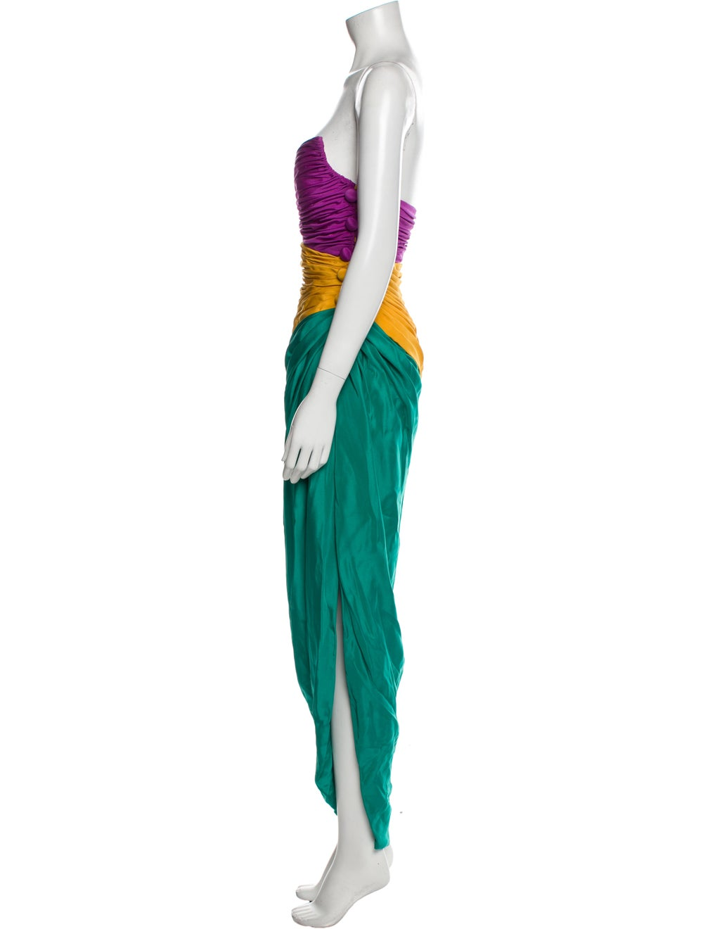 Arnold Scaasi Vintage Long Dress Green - image 2