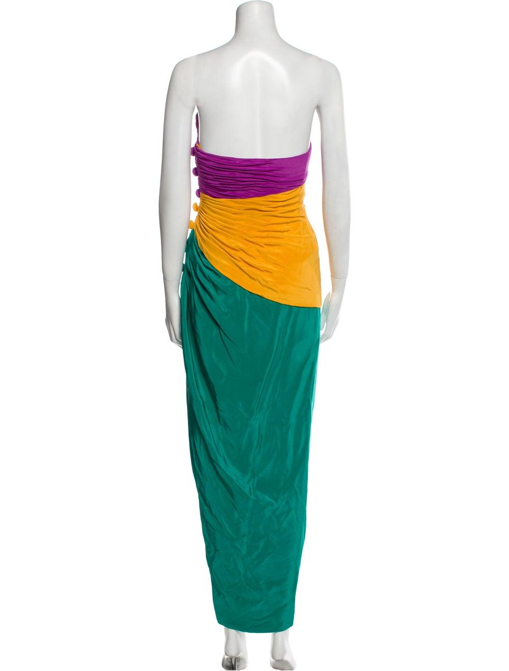 Arnold Scaasi Vintage Long Dress Green - image 3