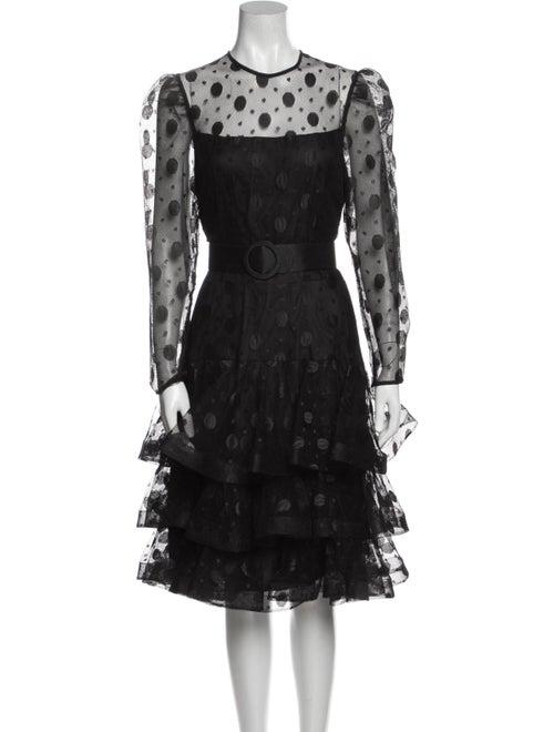 Arnold Scaasi Vintage Midi Length Dress Black - image 1