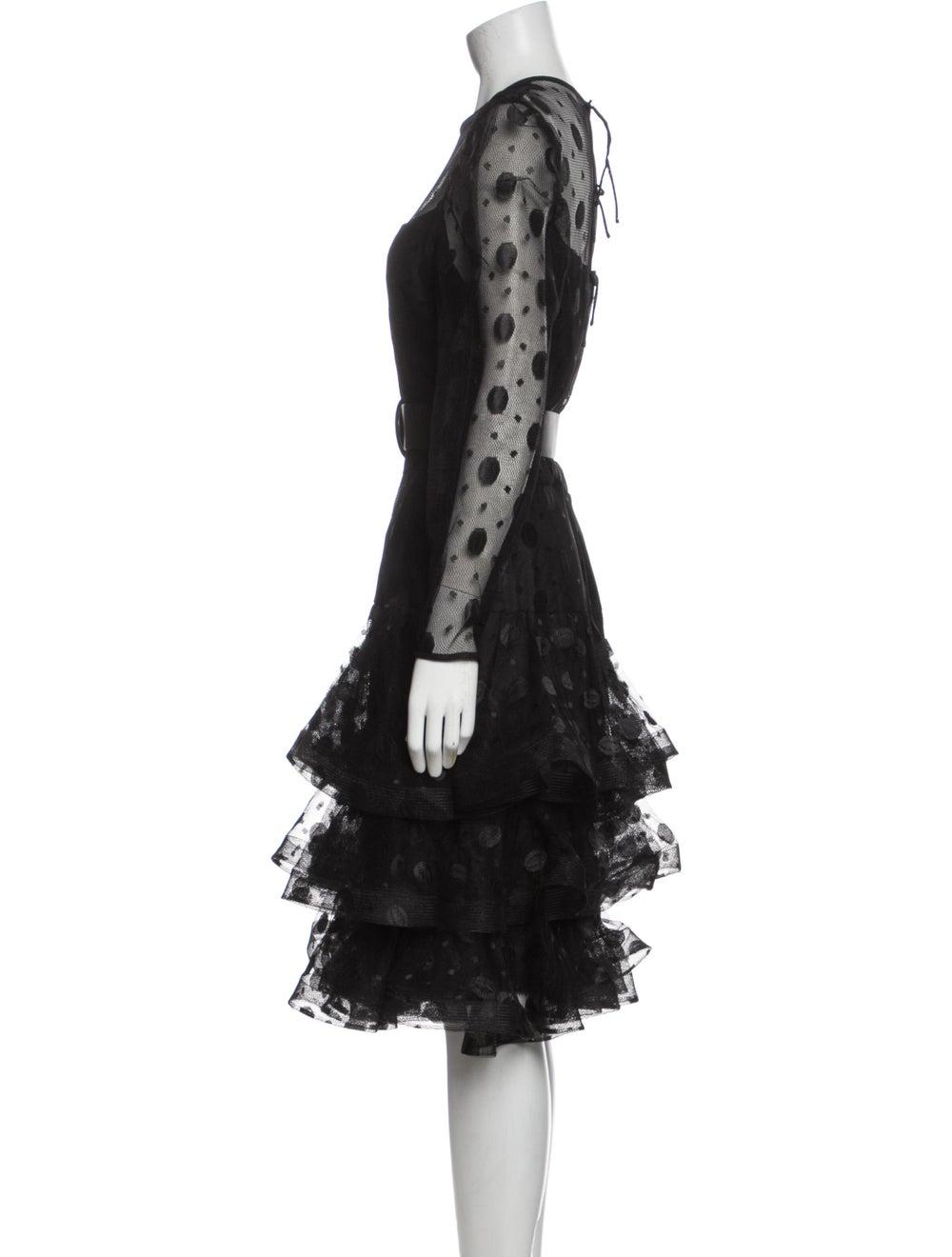 Arnold Scaasi Vintage Midi Length Dress Black - image 2