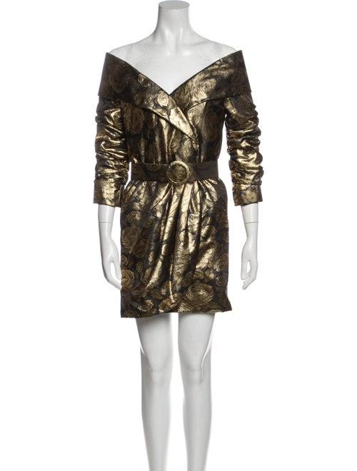 Arnold Scaasi Vintage Mini Dress Gold