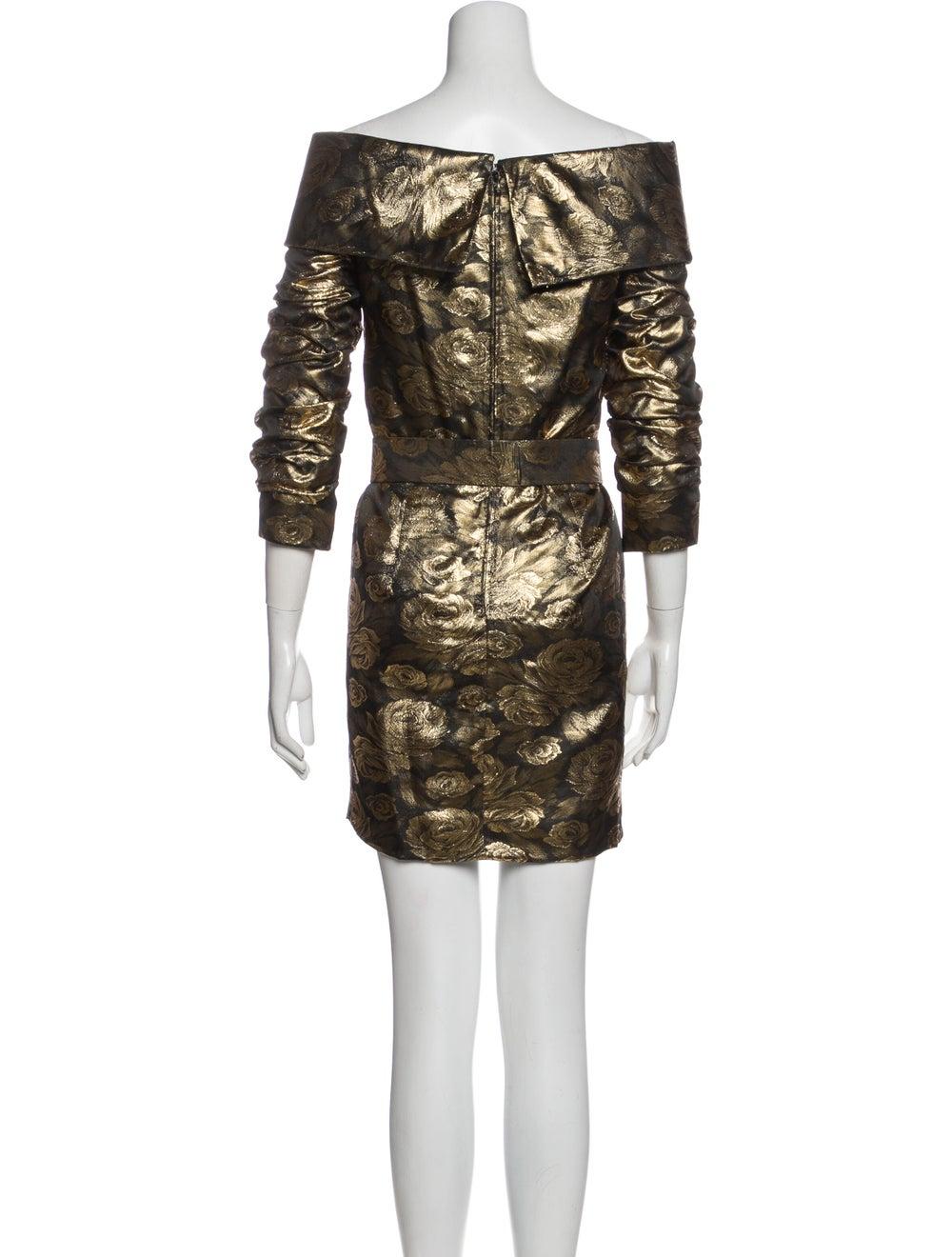 Arnold Scaasi Vintage Mini Dress Gold - image 3