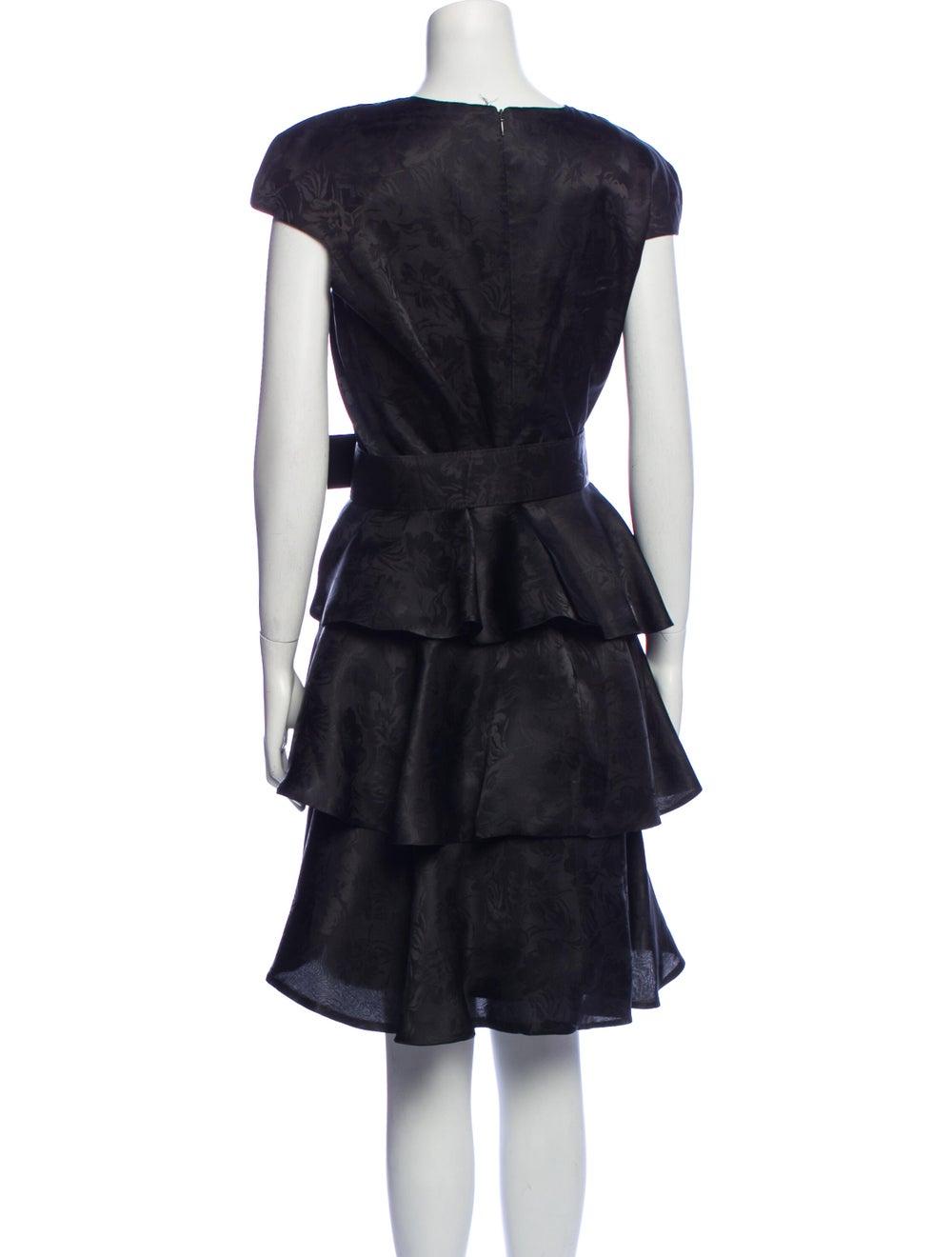 Arnold Scaasi Vintage Knee-Length Dress Black - image 3