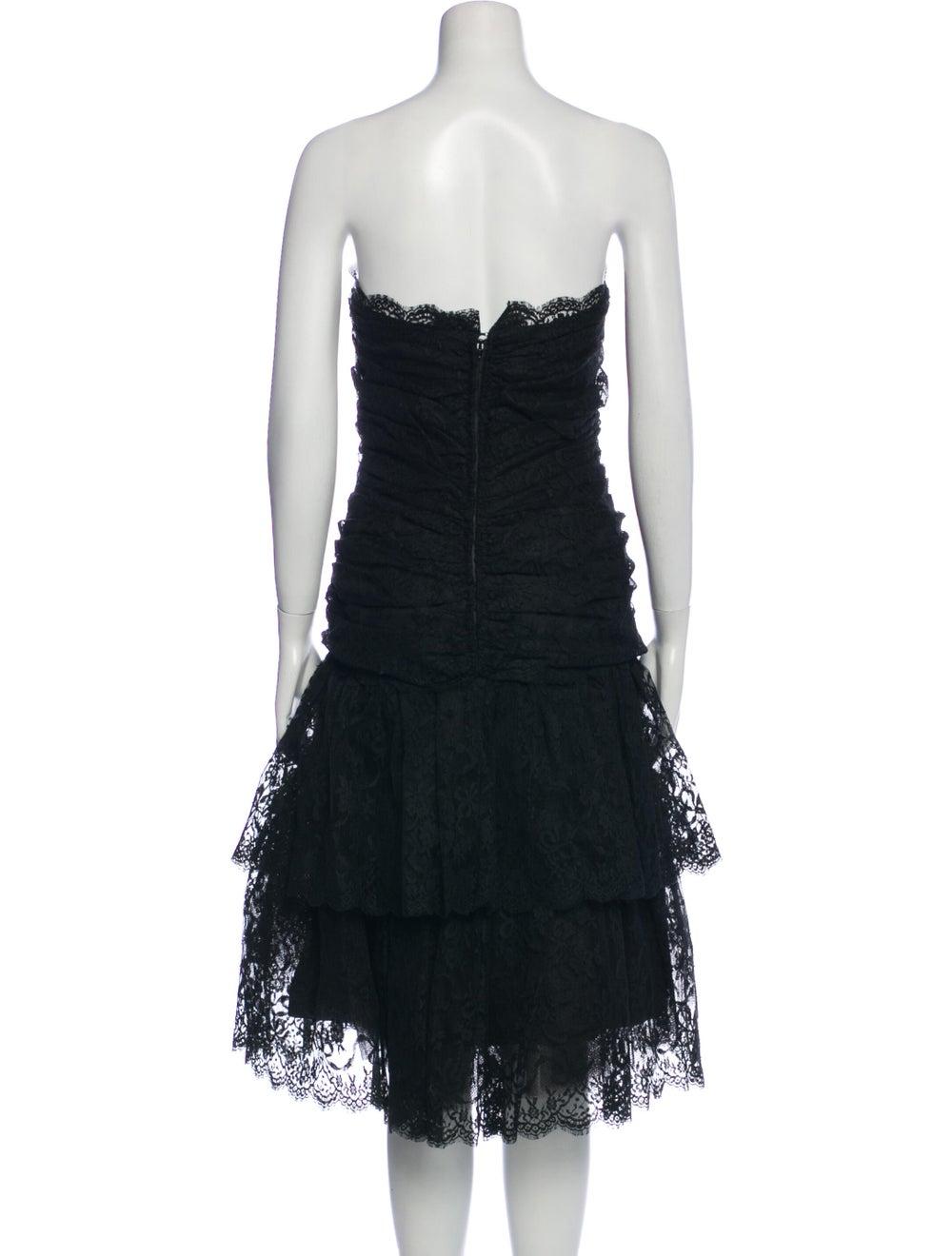 Arnold Scaasi Vintage Midi Length Dress Black - image 3