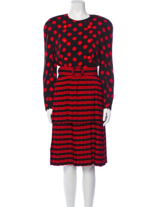 Arnold Scaasi Vintage Midi Length Dress Black