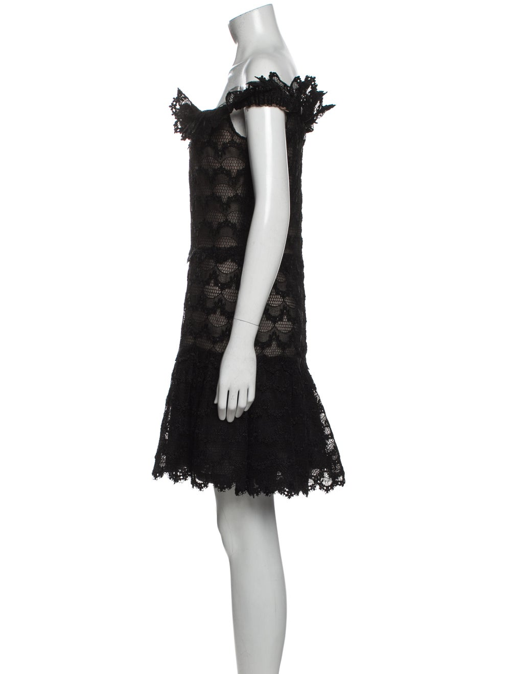 Arnold Scaasi Cowl Neck Mini Dress Black - image 2