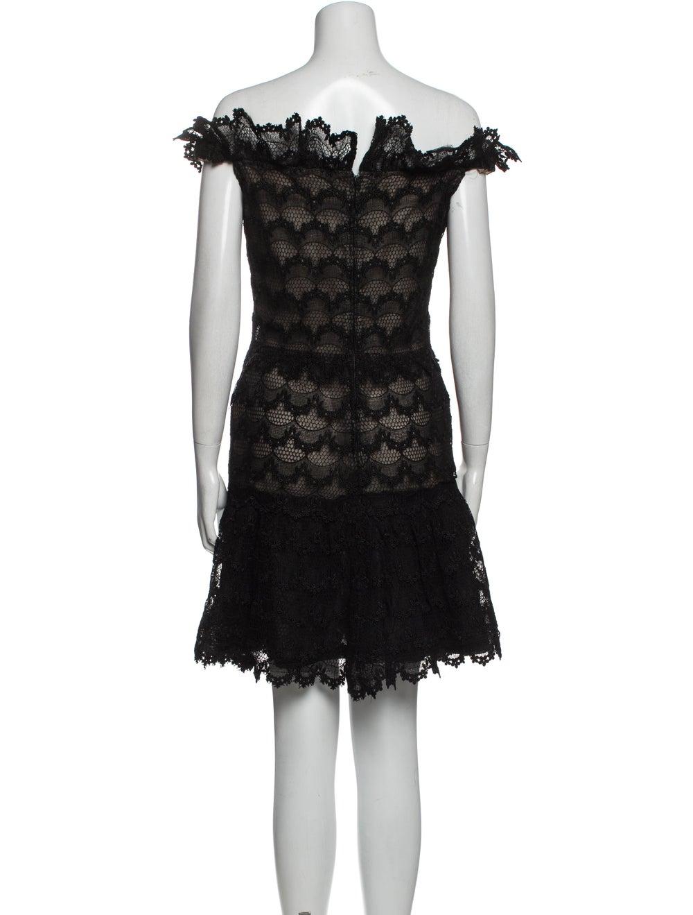 Arnold Scaasi Cowl Neck Mini Dress Black - image 3