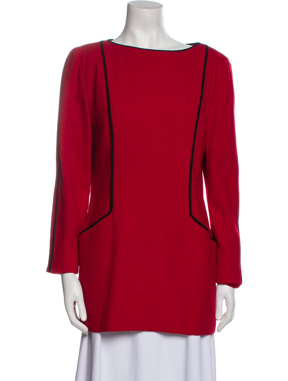 Arnold Scaasi Vintage 1980's Tunic Red - image 1