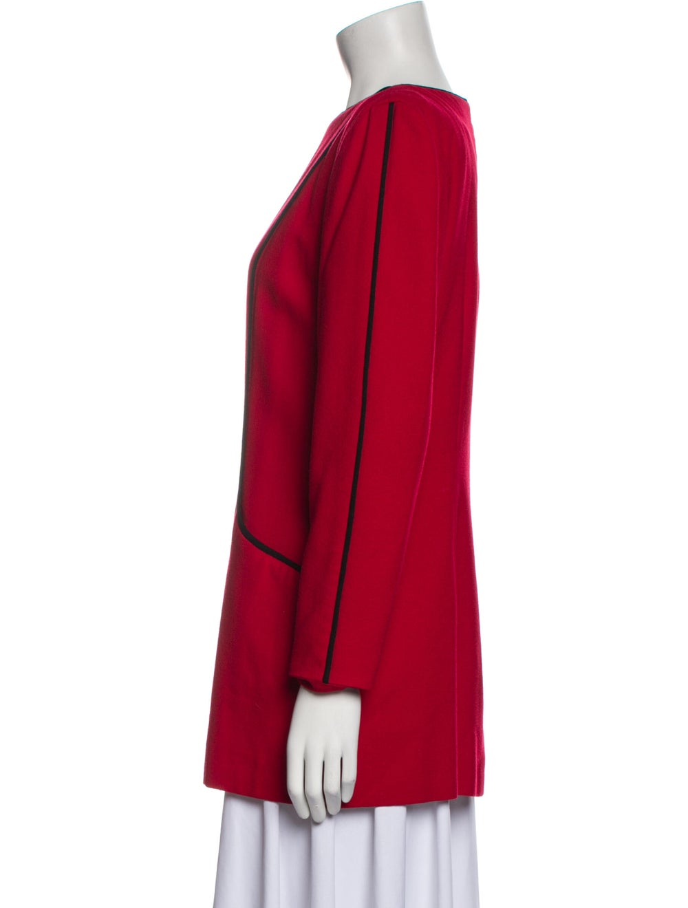 Arnold Scaasi Vintage 1980's Tunic Red - image 2