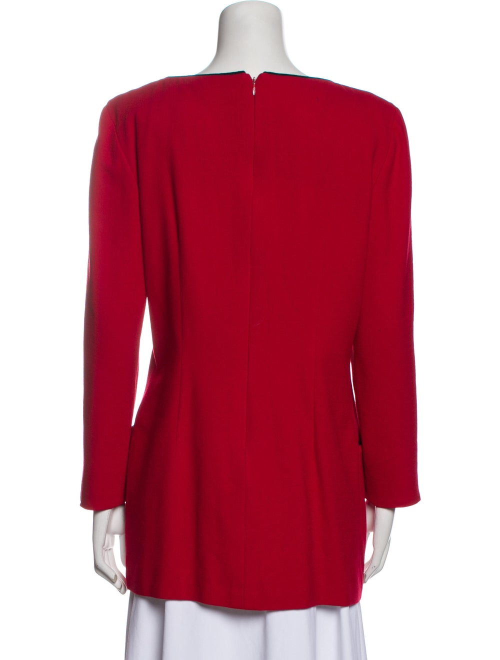 Arnold Scaasi Vintage 1980's Tunic Red - image 3