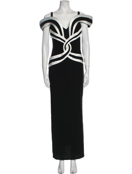 Arnold Scaasi Vintage Long Dress Black