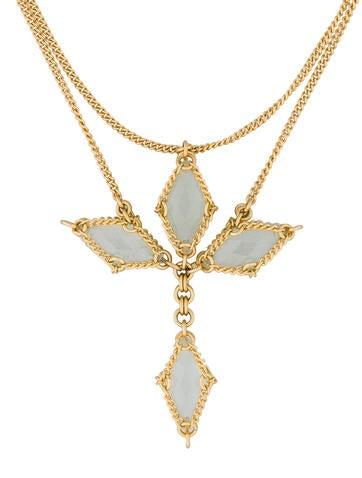 Mint Quartz Cross Necklace