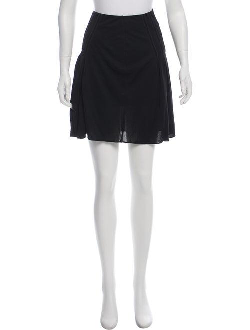 Atlein Pleated Mini Skirt Black
