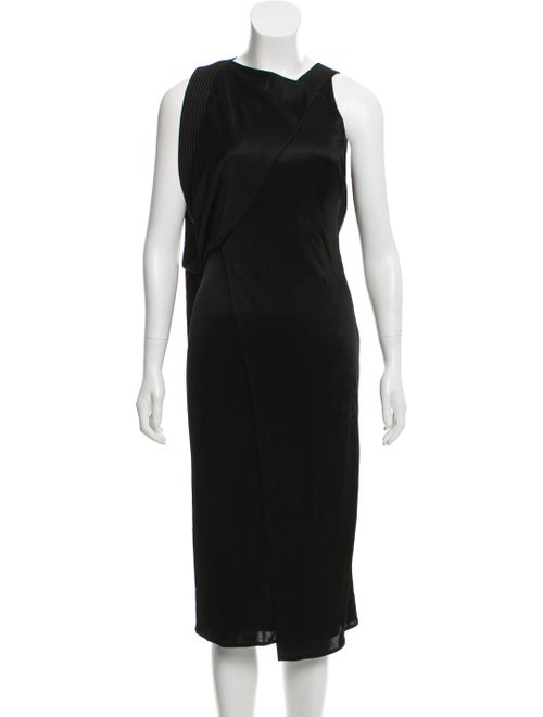 Atlein Draped Open Back Dress Black