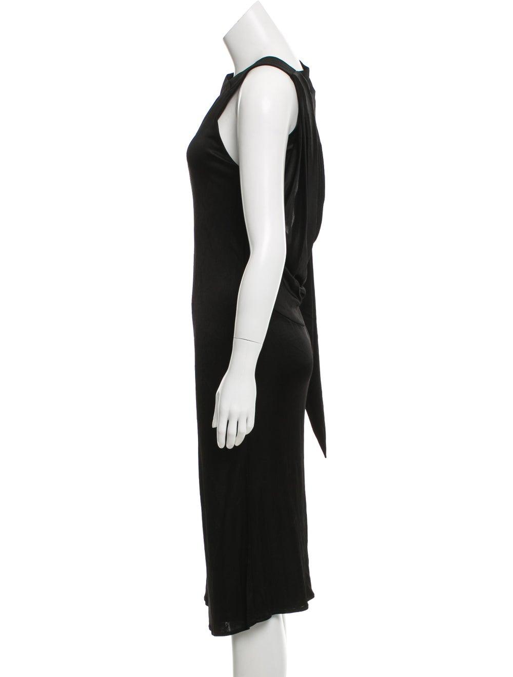 Atlein Draped Open Back Dress Black - image 2