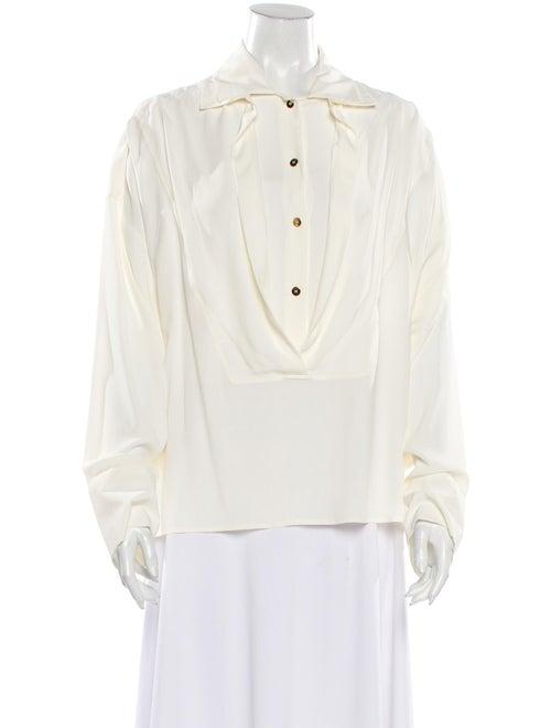 Atlein Long Sleeve Button-Up Top