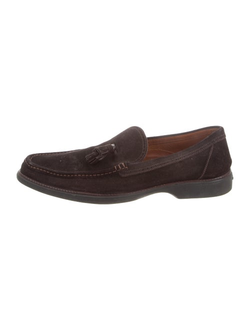 68cf74242a2 a.testoni Square-Toe Suede Loafers - Shoes - ATS20215