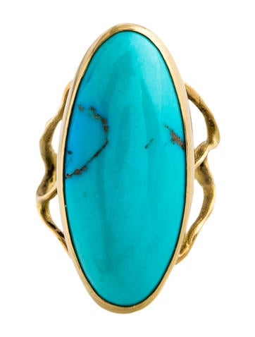 18K Turquoise Branch Cocktail Ring