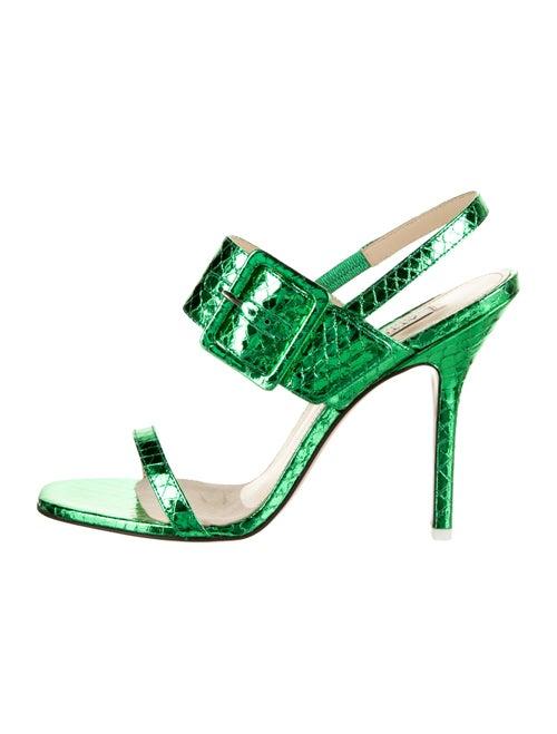 Attico Metallic Slingback Sandals Metallic