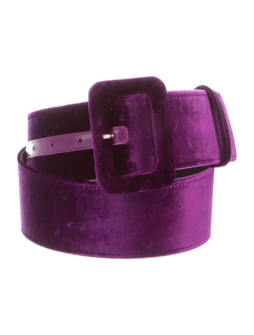Attico Velvet Hip Belt Purple