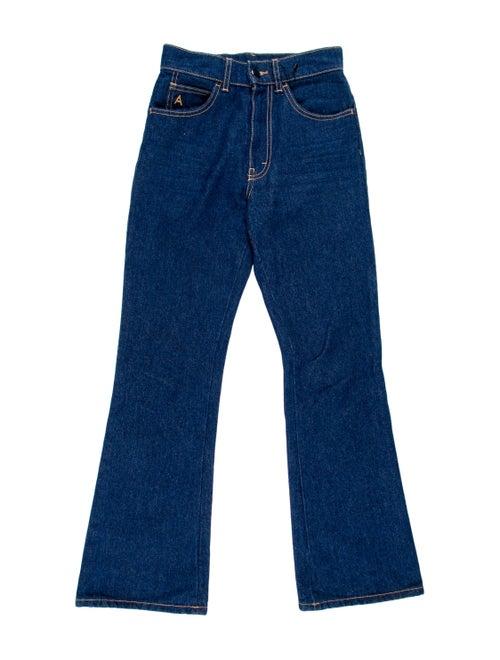 Attico Mid-Rise Straight-Leg Jeans blue