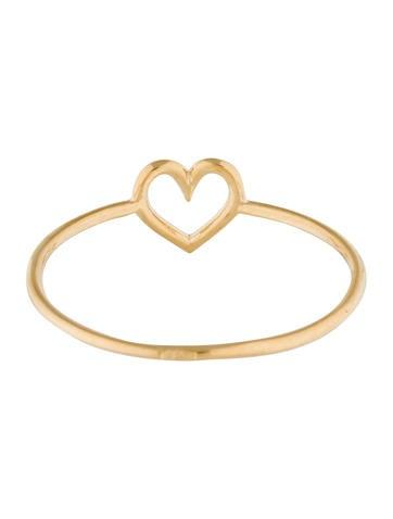 18K Heart Ring