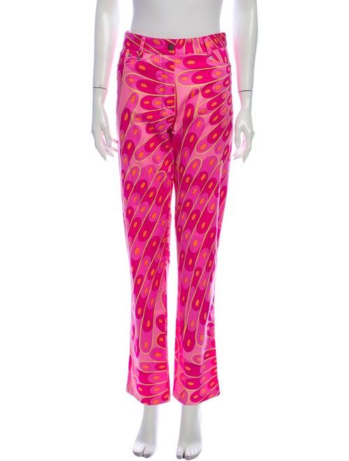 Averardo Bessi Printed Straight Leg Pants Pink