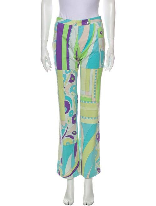 Averardo Bessi Printed Straight Leg Pants Green