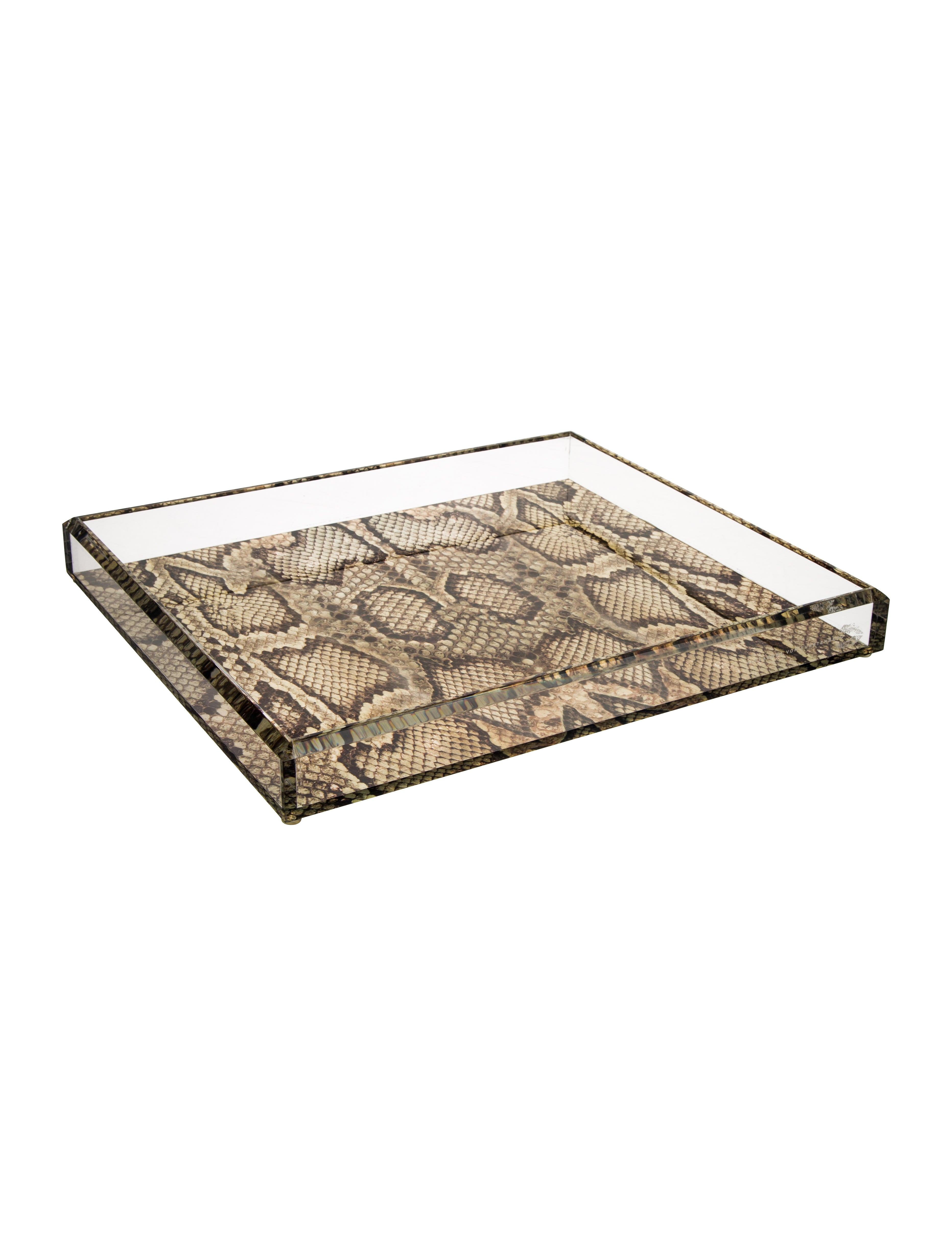 Soulmate snakeskin tray decor and accessories avf20071 for Aana decoration decorative tray