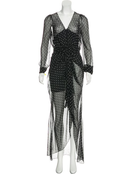 Alexandre Vauthier Sheer Silk Dress Black