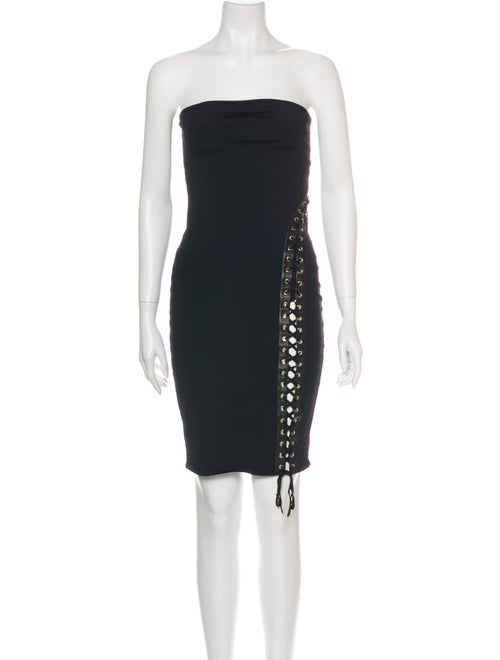 Alexandre Vauthier Strapless Mini Dress Black