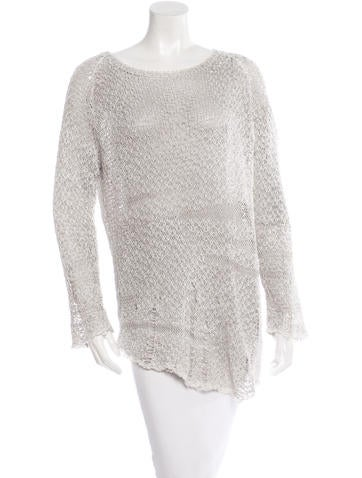 Open Knit Distressed Sweater w/ Tags