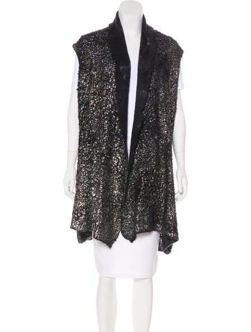 Avant Toi Cashmere & Silk-Blend Vest w/ Tags None