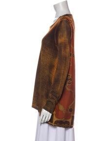Avant Toi Cashmere Tie-Dye Print Top