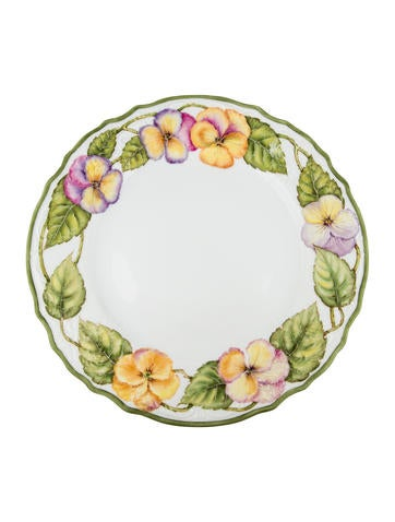 Anna Weatherley Hand-Painted Dinner Plate None