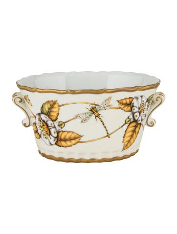 Anna Weatherley Hand-Painted Porcelain Cachepot None