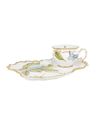Anna Weatherley Hand-Painted Tea Cup & Snack Plate Saucer None