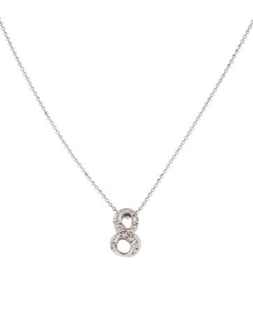 Product Name Alex Woo 14k Diamond Number 8 Necklace